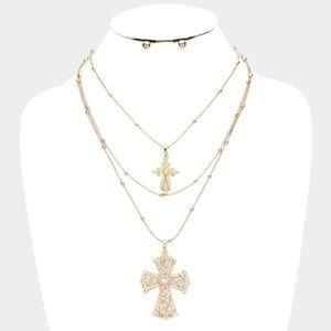 Jewelry - DOUBLE CROSS Me